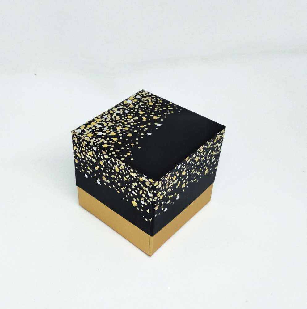Coffret  Cube Paillette  Assorti Noir Et Lait